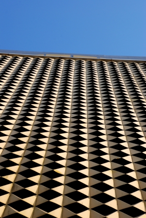 iron oxides: golden grid wall