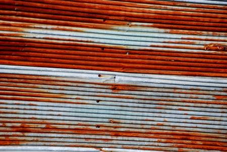 iron oxides: rustic metal sheet