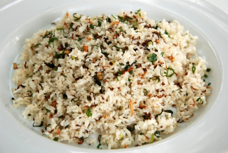 herb and garlic fried rice  photo