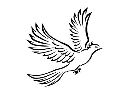 Fliegen-Vogel-Tätowierung