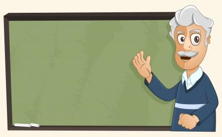illustration of a professor is teaching using the chalkboard Illustration