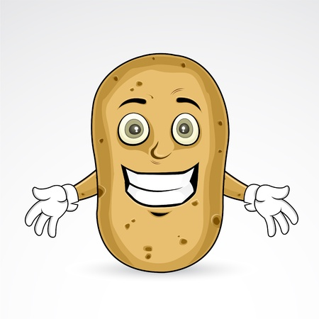 Potato - Cheerful illustration  Illustration