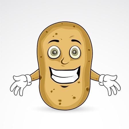 Potato - Cheerful illustration  Illustration