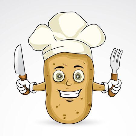 Chef Potato - happy