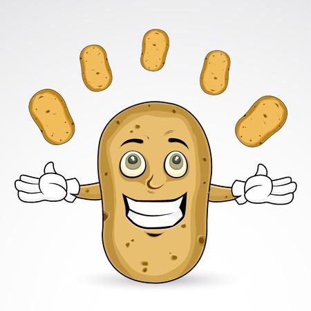 Happy potatoes  Illustration