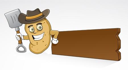 Farmer Potato Illustration