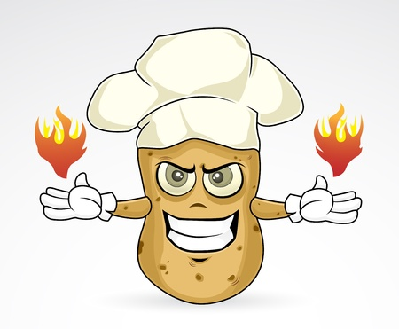 Chef Potato - burn Illustration