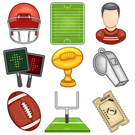 American Football icon - Sport - Illustration