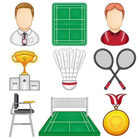Badminton Icon - Sport - Illustration