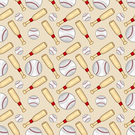 Baseball Seamless pattern background - sport - Illustration Illustration