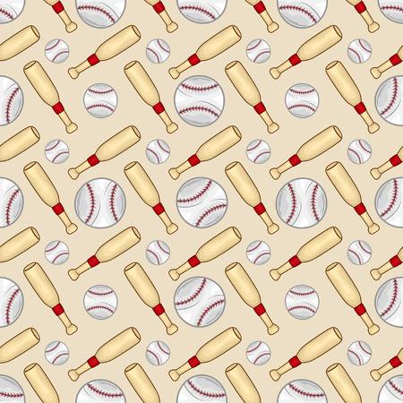 Baseball Seamless pattern background - sport - Illustration Illustration