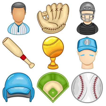 Baseball Icon - Sport - Illustration Illustration