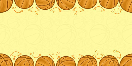 Background of basketball - Sport - illustration Illustration