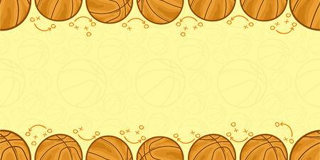 Background of basketball - Sport - illustration Illustration