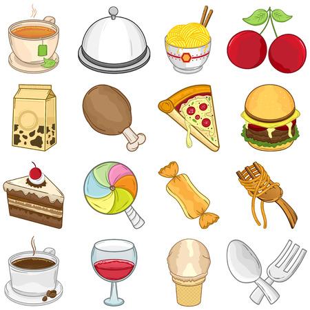 Food   Beverages Icons Set    Illustration