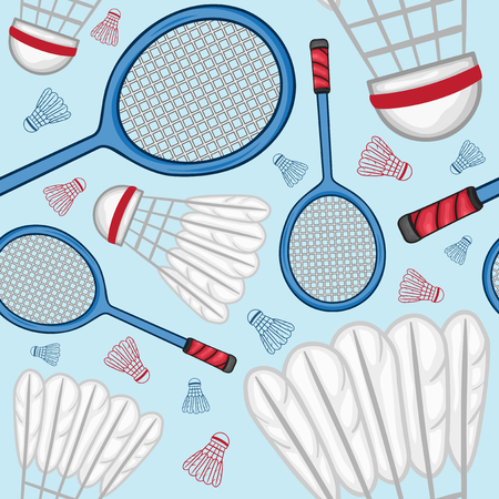 Badminton seamless pattern Background - Sport