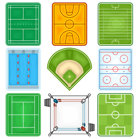 Sport Fields Icon - Illustration Vector