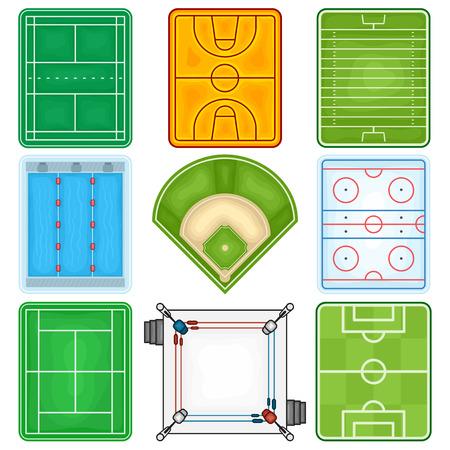 campo de beisbol: Sport Fields Icono - Ilustraci�n Vectores