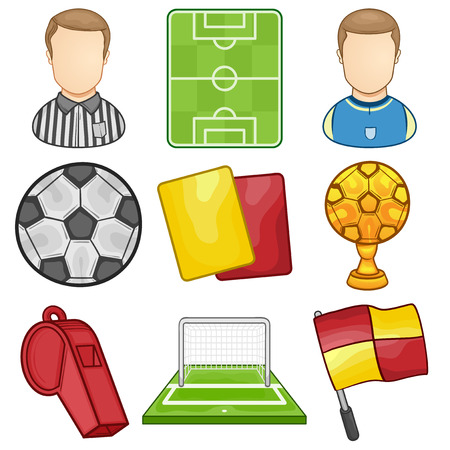 judge players: Soccer Icon - Sport - illustration