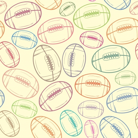 American football sketch seamless pattern background - Sport - Illustration
