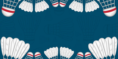 Background of Badminton - Sport - illustration