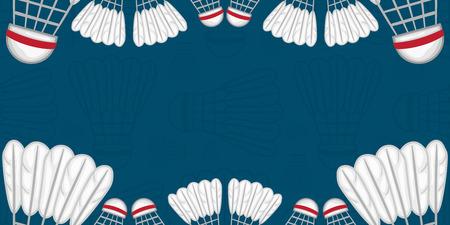 Background of Badminton - Sport - illustration