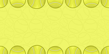 Background of tennis ball - Sport - illustration