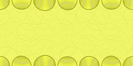 Background of tennis ball - Sport - illustration