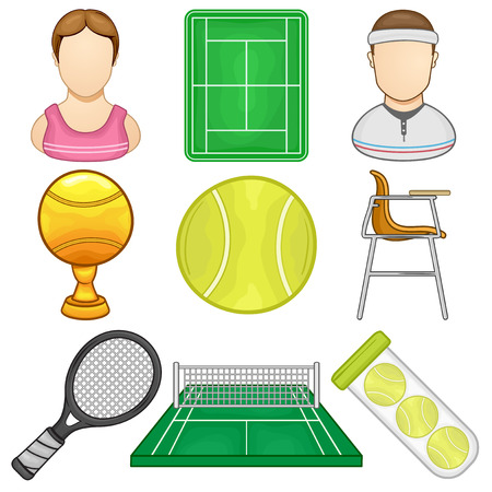 Tennis Icons - Sport - Illustration