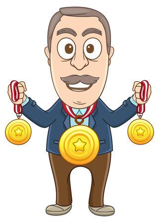 Businessman got lots of medals