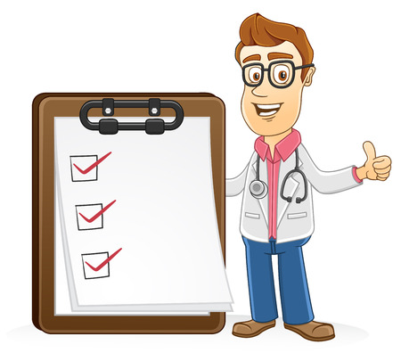 Doctor showing checking list medical