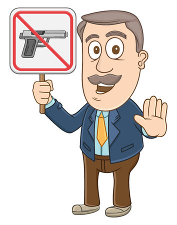 Businessman holding no gun sign  Vector