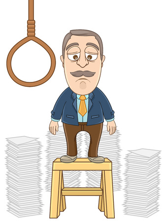 desperate: Businessman desperate going to suicide