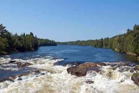 Falls on the a river Stock fotó