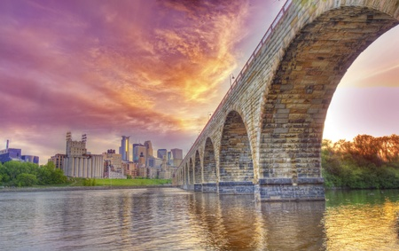 Minnneapolis at the Stone Arch bridge