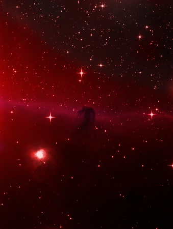 The horsehead nebula Stock fotó