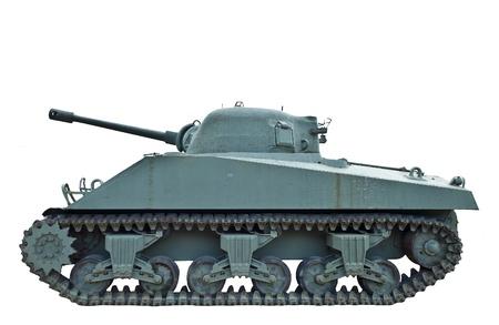 world war two: A world war two tank in profile Stock Photo