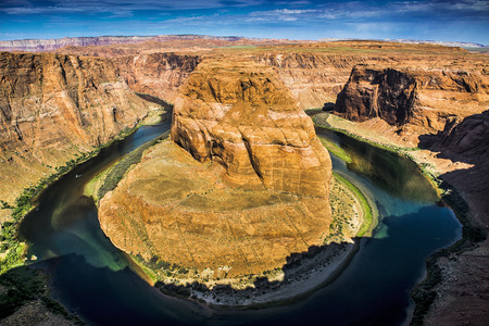 colorado river: Horseshoe Bend; Colorado River; Arizona; USA; 2014 Stock Photo