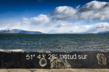 puerto natales: A view of the seaside from Puerto Natales in Chile