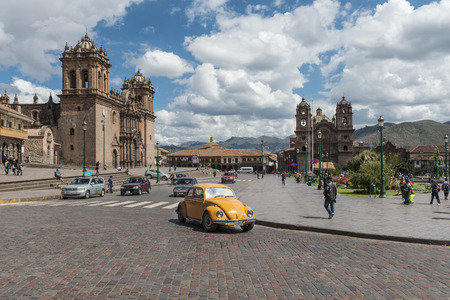 plaza de armas: View of the Plaza de Armas in Cusco, Peru, 2013