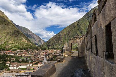 sacred valley: Ollantaytambo Inca ruins, in the Sacred Valley, Peru