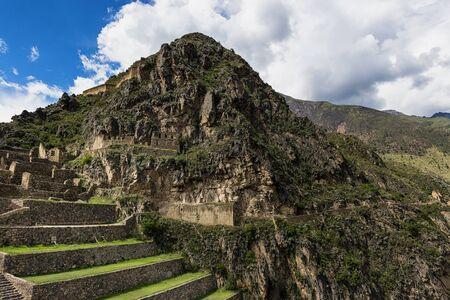 sacred valley: Ollantaytambo ruins, in the Sacred Valley, Peru