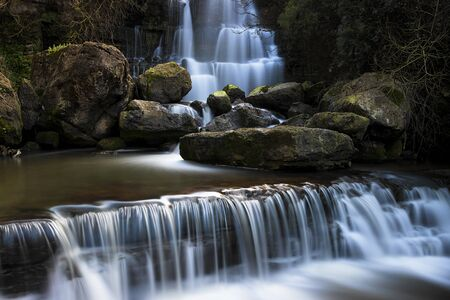 sintra: View of the Fervenca Waterfall near Sintra, Portugal