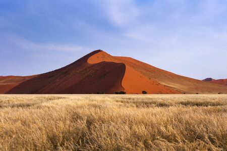 View of the red dunes in Sossusvlei, Namibia, Africa Stock Photo