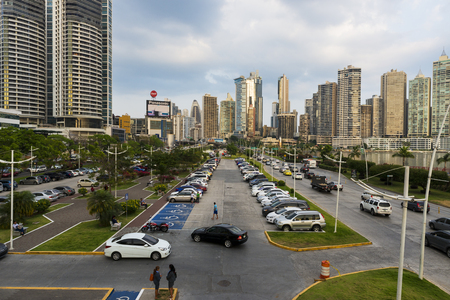panama city: Panama City, Panama - March 18, 2014: View of the financial district in Panama City, Panama.