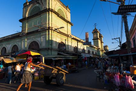 central america: Granada, Nicaragua - April 2, 2014: People in a market in the city of Granada in Nicaragua, Central America