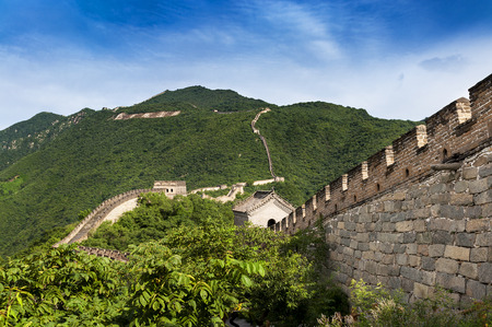 mutianyu: View of the China Great Wall in Mutianyu, China; Concept for travel in China
