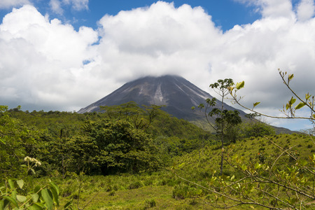 View of the Arenal Volcano in Costa Rica, Central America