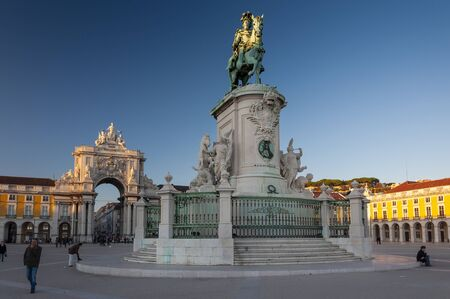 Lisbon, Portugal - November 6, 2011: View of the Praca do Comercio (Comercio Square) in the city of Lisbon, Portugal 에디토리얼