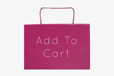 bag market for online shopping with message add to cart